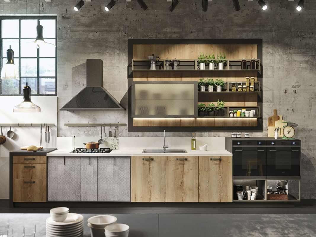 Кухня в стиле Лофт 9